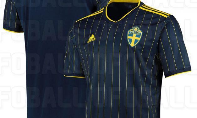 Les nouveaux maillots Suède Euro 2020 par Adidas