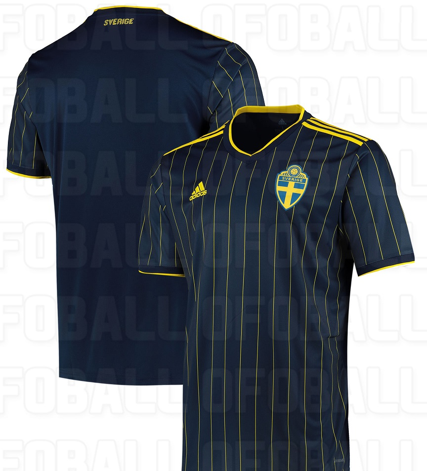 Suede Euro 2020 maillot exterieur