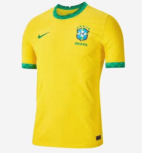 Bresil 2020 nouveau maillot de foot domicile Copa America officiel