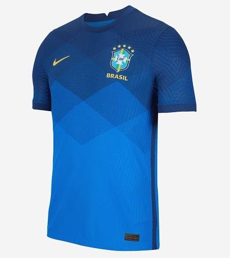 Bresil 2020 nouveau maillot de foot exterieur Copa America officiel