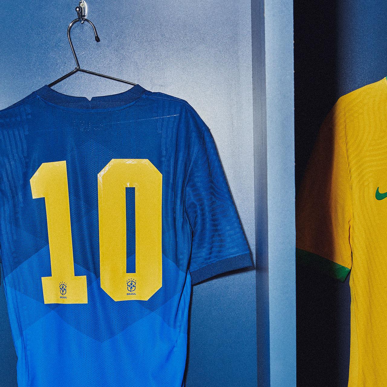 Nouveaux maillots de foot Bresil 2020 dos flocage