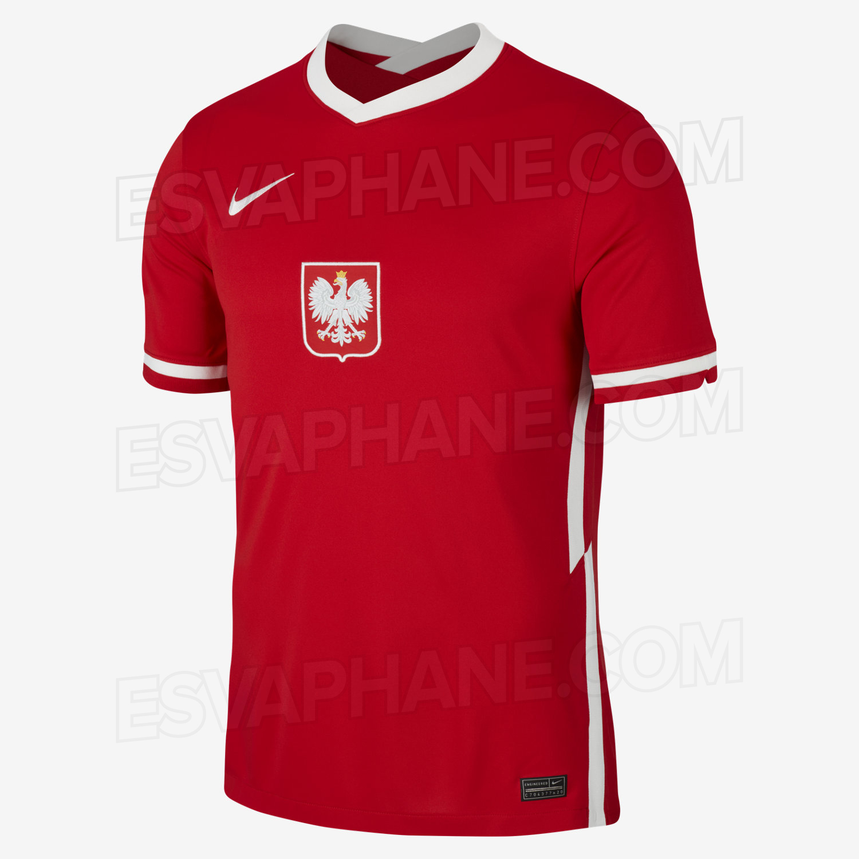 Pologne Euro 2020 maillot exterieur rouge