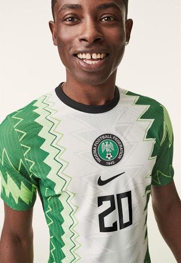 Nigeria 2020 maillot domicile foot