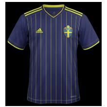 Suede Euro 2020 maillot de foot exterieur