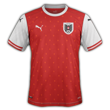 Autriche Euro 2020 maillot domicile