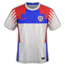 Chili Copa America 2021 maillot exterieur