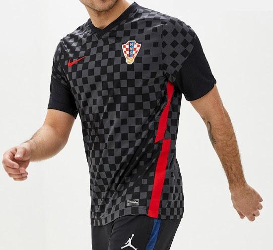 Croatie Euro 2020 2021 maillot de foot exterieur
