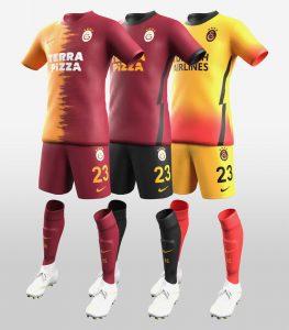 Galatasaray 2021 maillots de foot