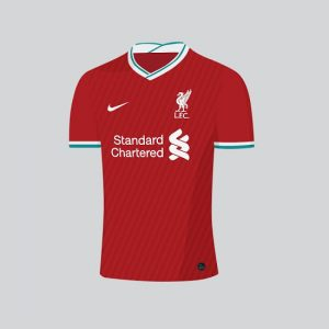 Liverpool 2021 possible maillot domicile