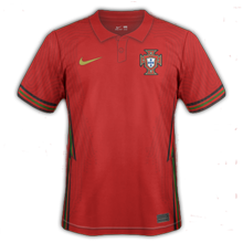 Portugal Euro 2020 maillot exterieur domicile football