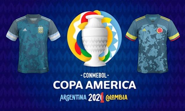 nouveaux maillots de football Copa America 2021