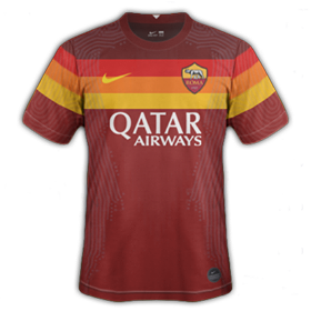 AS Roma 2021 nouveau maillot foot domicile