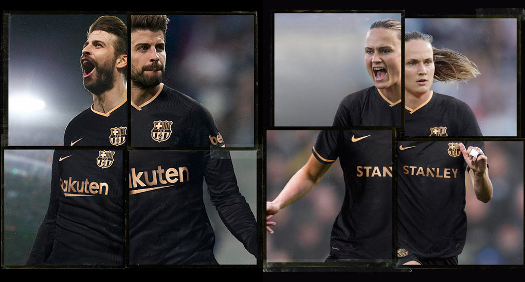 Barcelone 2021 maillot exterieur officiel Nike