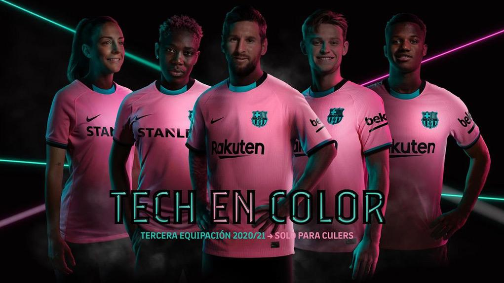 Barcelone 2021 nouveau maillot de foot third