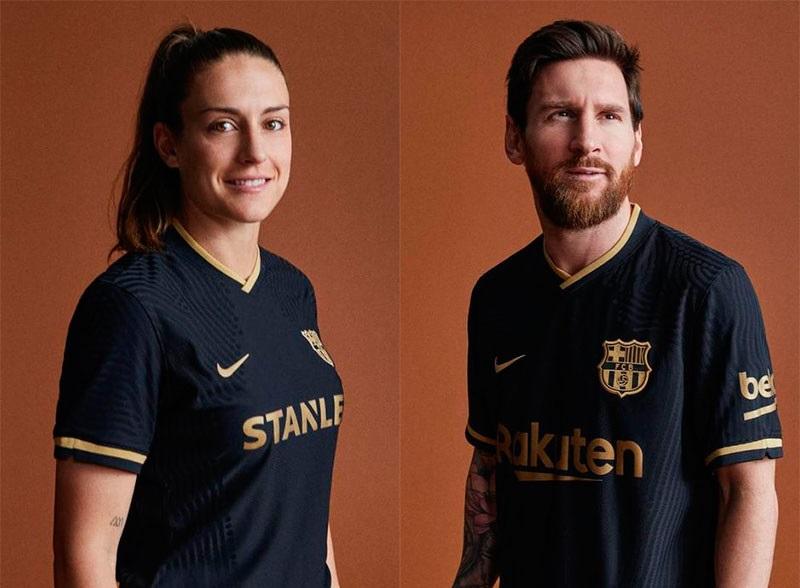 Barcelone 2021 nouveau maillot exterieur Messi