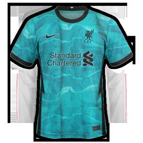Liverpool 2021 maillot exterieur foot 20 21