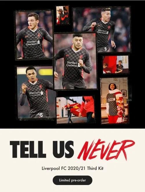 Liverpool 2021 troisieme maillot de football third