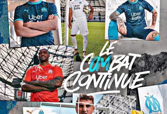 Nouveaux maillots de foot OM 2021