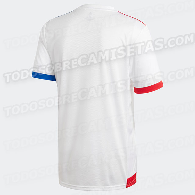 Olympique Lyonnais 2021 dos du maillot domicile OL