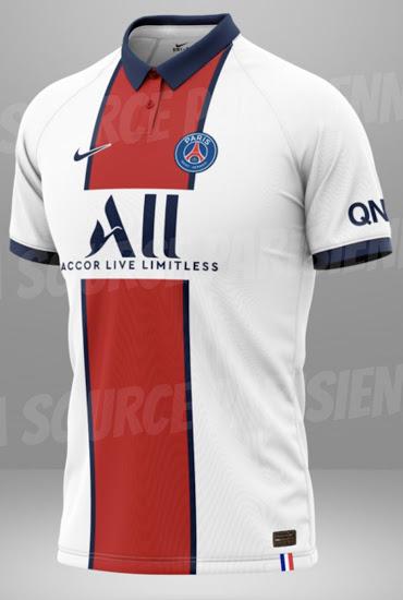 PSG 2020 2021 maillot exterieur football Paris