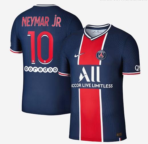PSG 2021 maillot de foot domicile officiel Neymar