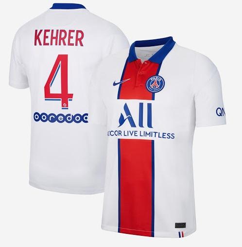 PSG 2021 maillot exterieur blanc