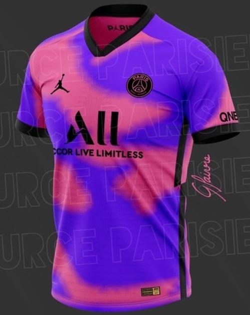 PSG 4eme maillot foot Nike Paris probable