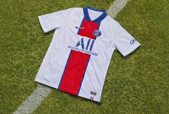 Paris 2021 maillot de football exterieur Nike