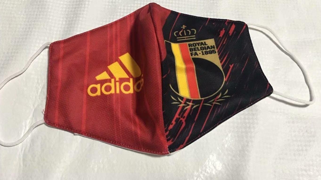 masque Covid19 Belgique foot
