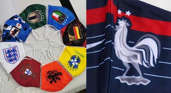masques protection Covid19 football logo