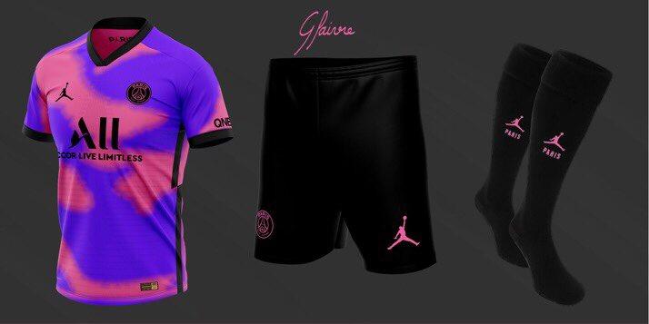 tenue foot PSG 4eme maillot foot Nike Paris probable