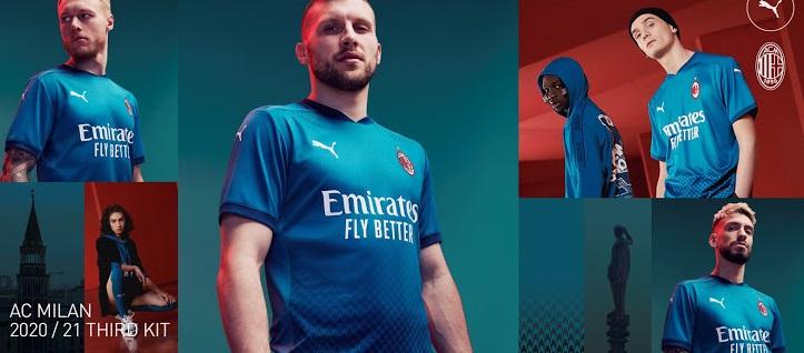 AC Milan 2021 troisieme maillot third Adidas
