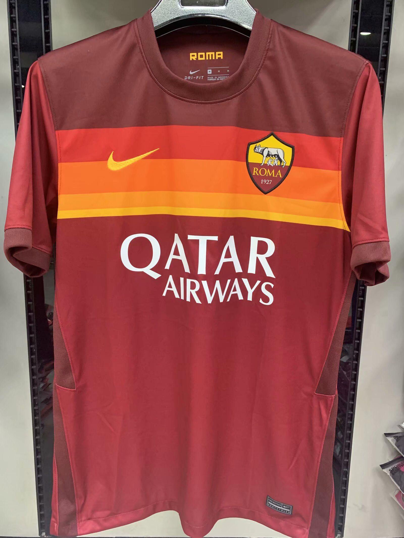 AS Roma 2021 nouveau maillot domicile football