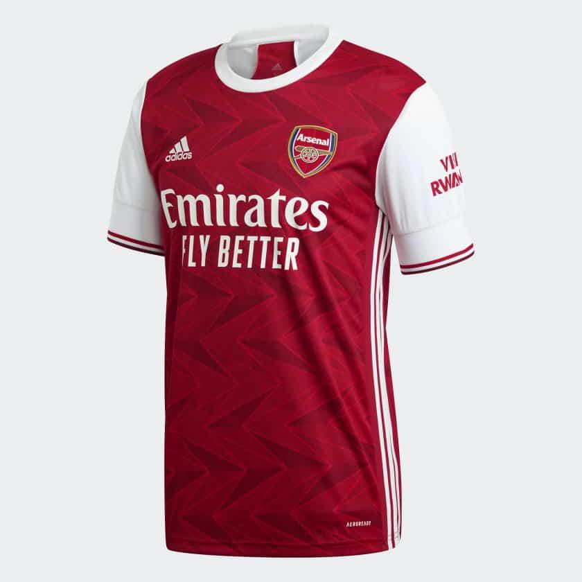 Arsenal 2020 2021 nouveau maillot domicile