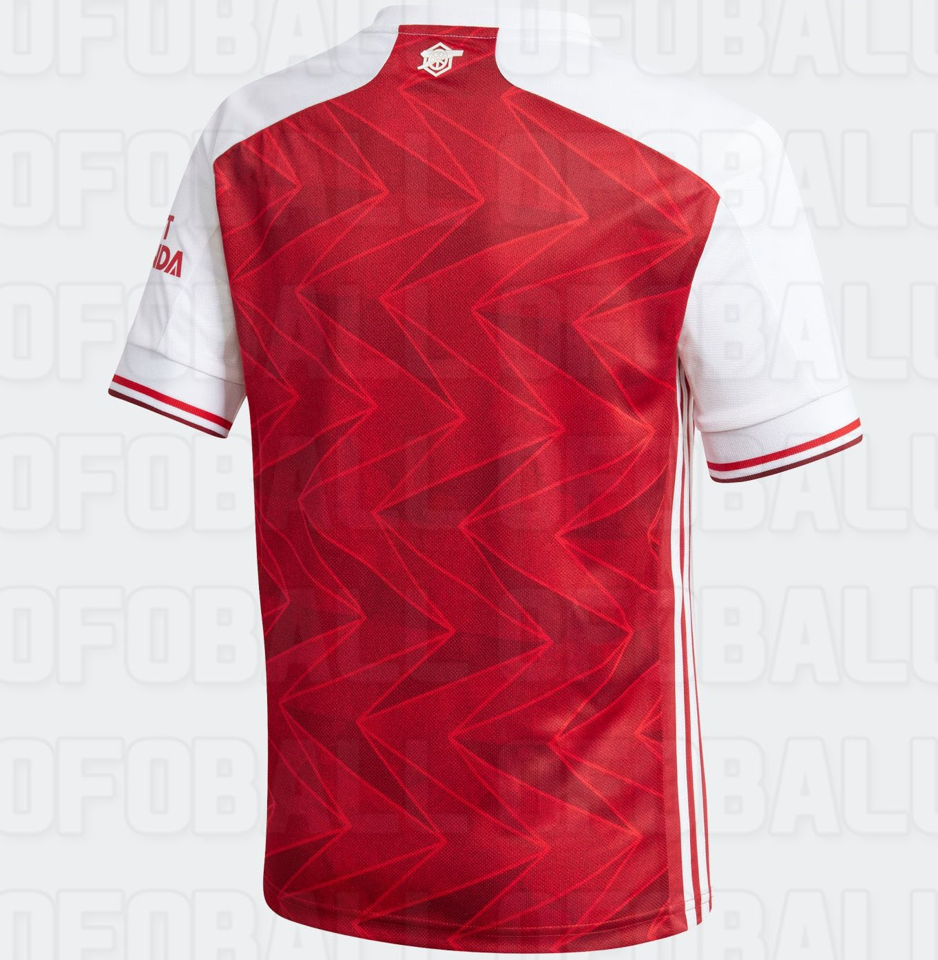 Arsenal 2021 dos maillot domicile