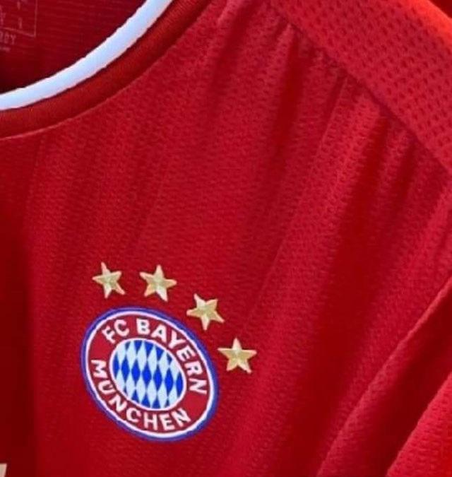 Bayern Munich 2021 maillot domicile blason