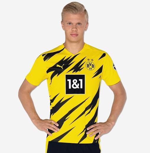 Dortmund 2020 2021 Haaland maillot de foot domicile