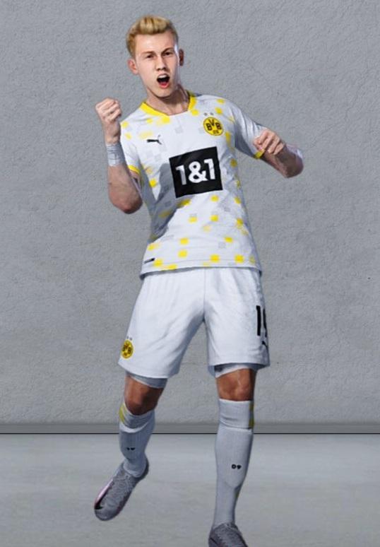 Dortmund 2021 3eme maillot de foot third
