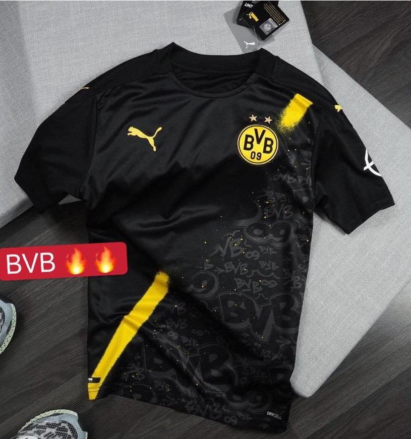 Dortmund 2021 nouveau maillot de football exterieur