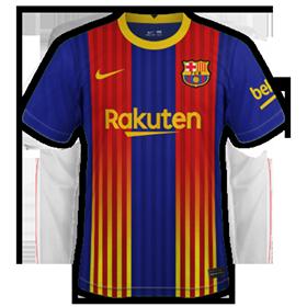 FC Barcelone 2021 quatrieme maillot senyera