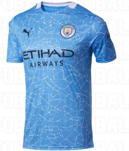 Manchester City 2021 maillot domicile football