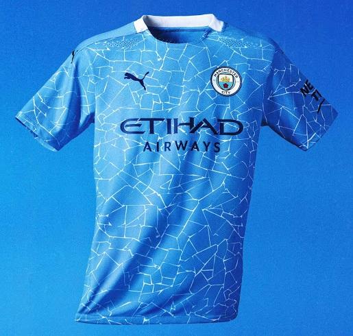 Manchester City 2021 nouveau maillot de foot domicile