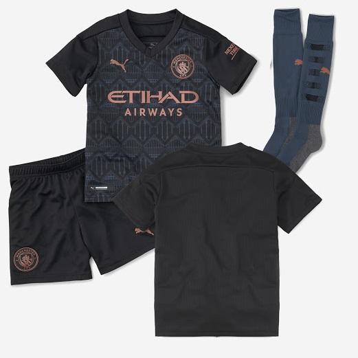 Manchester City 2021 nouveau maillot de foot exterieur noir