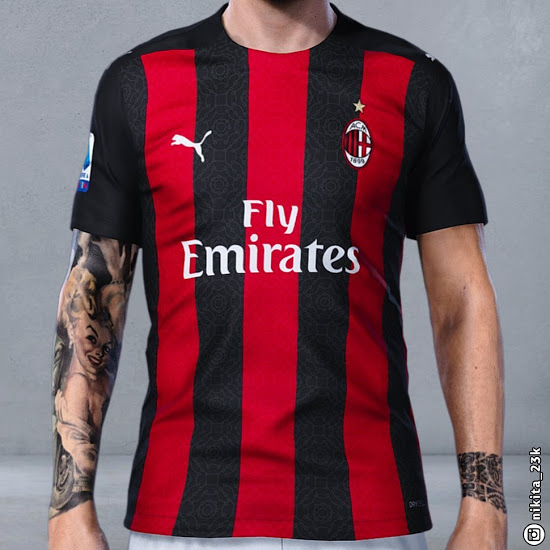 Milan AC 2021 maillot domicile foot