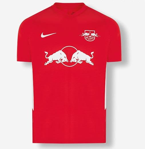 Leipzig 2021 4eme maillot de foot rouge