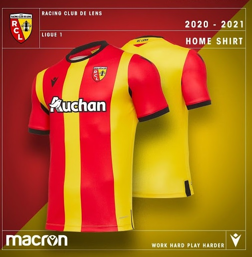 RC Lens 2021 nouveau maillot domicile