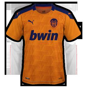 Valencia 2021 maillot exterieur foot