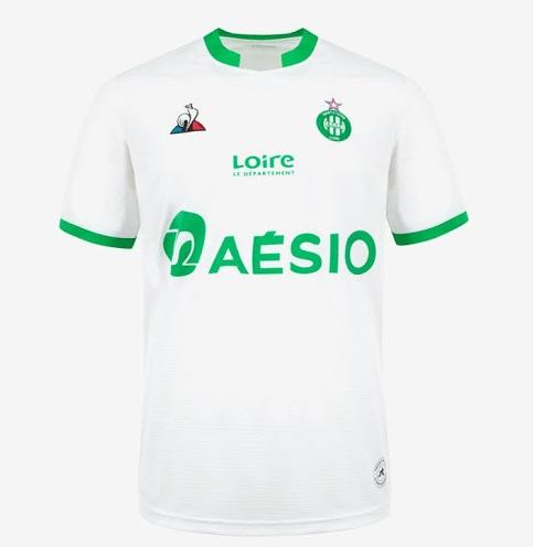 ASSE 2021 maillot de foot exterieur blanc