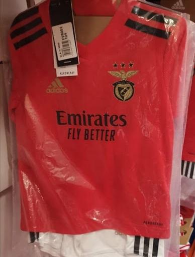 Benfica 2021 nouveau maillot domicile