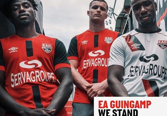 EA Guingamp 2021 les nouveaux maillots de football